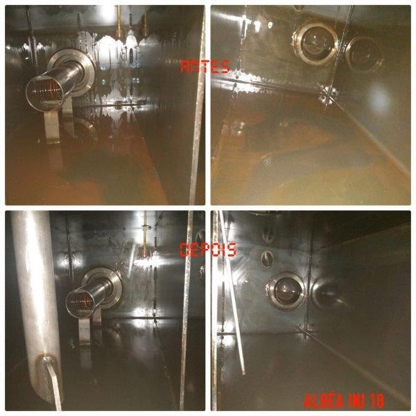 Limpeza de reservatórios de óleo
